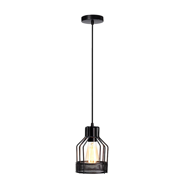 Guard Light Wire Ceiling Industrial Black Chandelier Pendant - Vintagelite