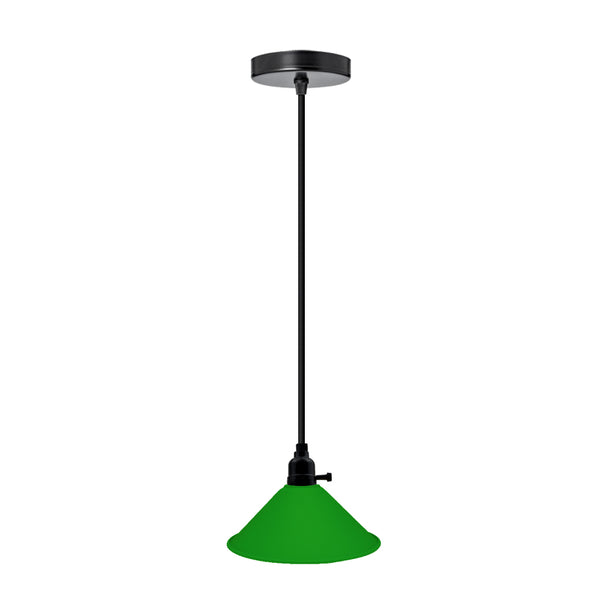 Pendant Light Modern Ceiling Green Lamp Shade Chandelier - Vintagelite