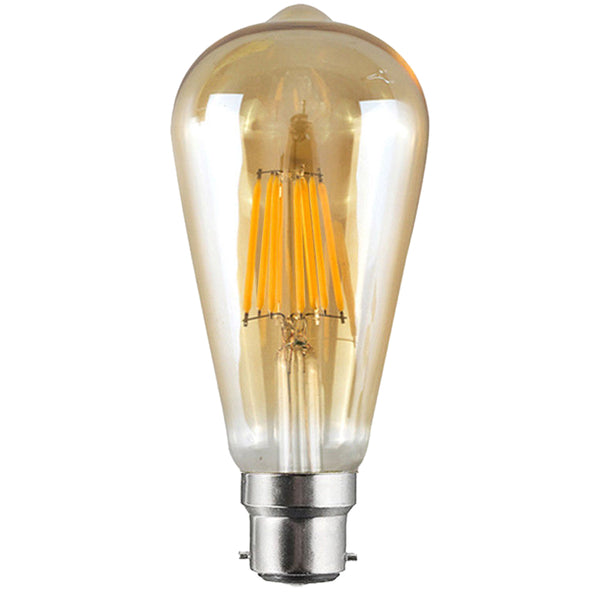 LED ST64 B22 8W Dimmable Globe Industrial Vintage Bulb - Vintagelite