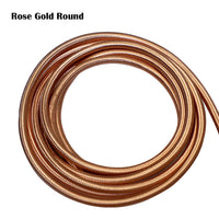Vintage Rose Gold Fabric 3 Core Round Italian Braided Cable 0.75mm - Vintagelite