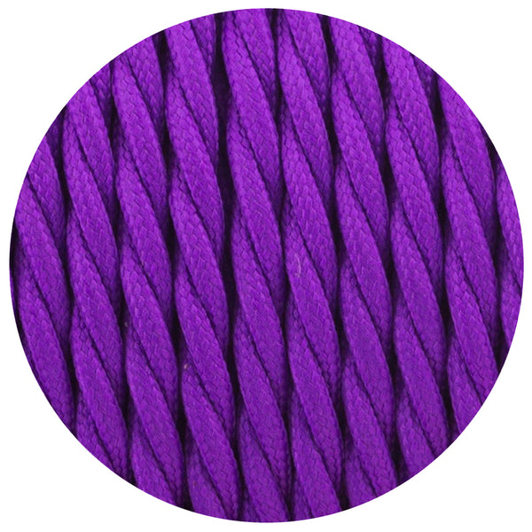 Purple Twisted Vintage fabric Cable Flex0.75mm 2 Core - Vintagelite