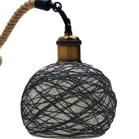 Vintage Rattan Ceiling Pendant Light Chandelier Hanging Hemp Rope Lamp Shade Lights