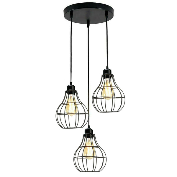 Modern 3 Lampshade industrial pendant light fixture for Hall Dining room