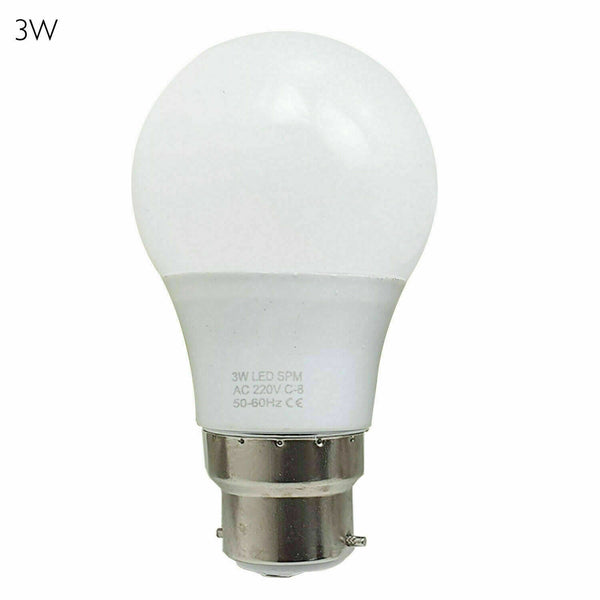 LED Round Golf Light Bulbs GLS Energy Saving Screw B22 Bulbs Warm White