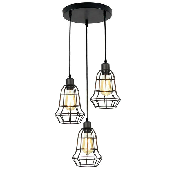 Vintage Cage Pendant Light Shade Chandelier Pendant Ceiling Lights UK