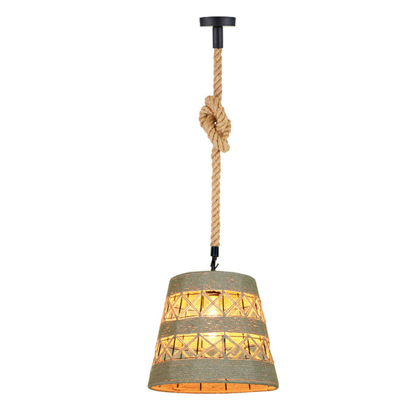 Modern Vintage Industrial  Hemp Ceiling Light Pendant Chandelier  Lamp Shades - Vintagelite