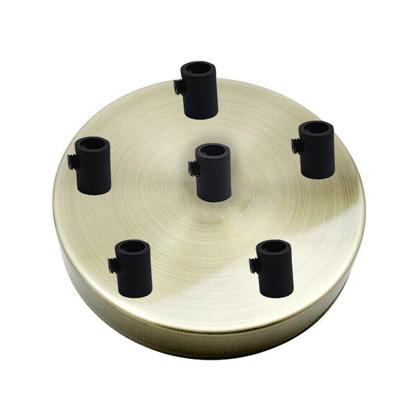 6 Outlet Green Brass Metal Ceiling Rose 120x25mm - Shop for LED lights - Transformers - Lampshades - Holders | LEDSone UK