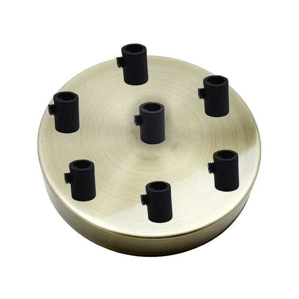 7 Outlet Green Brass Metal Ceiling Rose 120x25mm - Shop for LED lights - Transformers - Lampshades - Holders | LEDSone UK