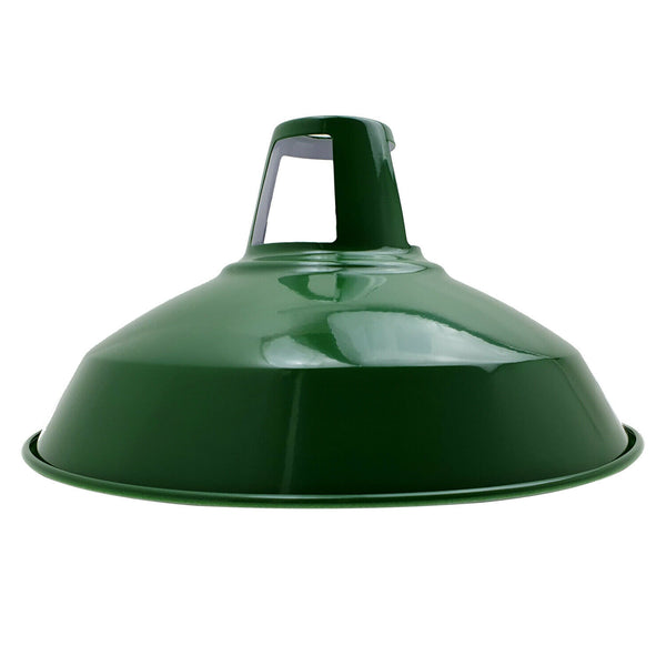 Industrial Metal Ceiling  Pendant Lampshade Vintage Light Hanging Lamp Green