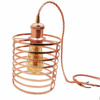 Pendant light Modern chandelier style ceiling lampshade metal rose gold - Vintagelite