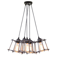 Vintage Industrial Retro Ceiling Light Cage Loft Chandelier Pendant Light Lamp - Vintagelite