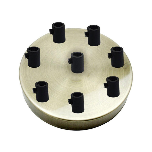 8 Outlet Green Brass Metal Ceiling Rose 120x25mm - Shop for LED lights - Transformers - Lampshades - Holders | LEDSone UK