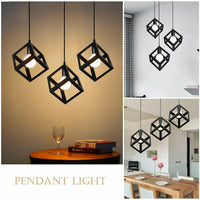 Vintage Triple Hanging Pendant Ceiling Lights for Kitchen Island Living Room Dining Room