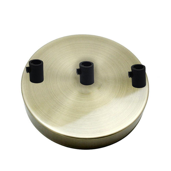 3 Outlet Green Brass Metal Ceiling Rose 120x25mm - Shop for LED lights - Transformers - Lampshades - Holders | LEDSone UK