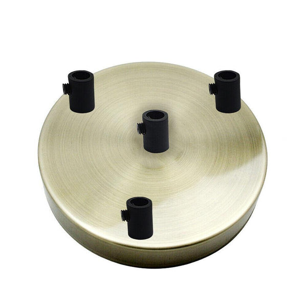 4 Outlet Green Brass Metal Ceiling Rose 120x25mm - Shop for LED lights - Transformers - Lampshades - Holders | LEDSone UK