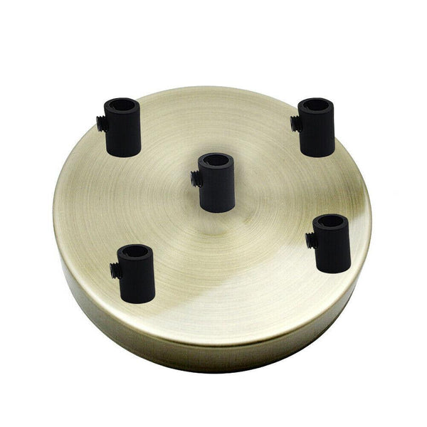 5 Outlet Green Brass Metal Ceiling Rose 120x25mm - Shop for LED lights - Transformers - Lampshades - Holders | LEDSone UK