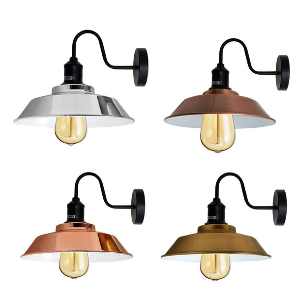 Retro industrial wall lamp wall lamp Edison metal vintage loft antique E27 with bulb