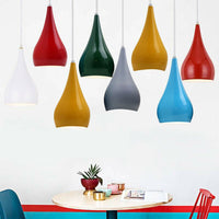 Retro Drop Light Shades Modern Ceiling Pendant Lampshades Metal Various Colours