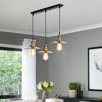 3 Way Modern Ceiling Pendant Cluster Light Fitting Industrial Pendant Lampshade - Vintagelite