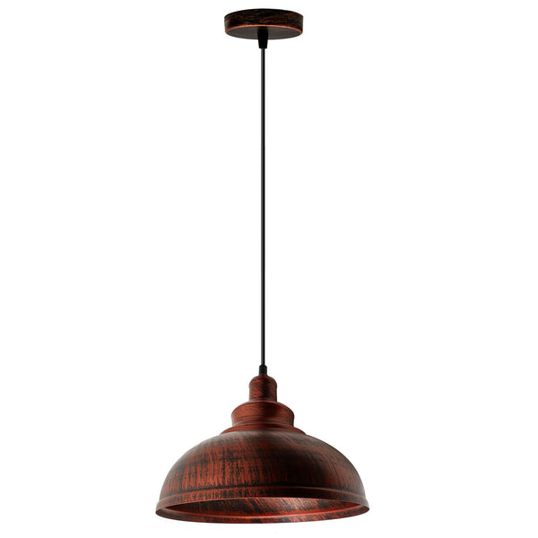 Vintage Industrial Retro Pendant Light Suspended Ceiling Pendant Metal Lampshade