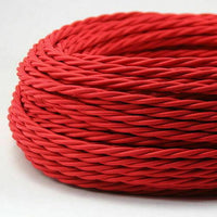 5 Meter  3 Core Braided Twisted Fabric Cable Lighting Flexible Cord Vintage Electric Wire