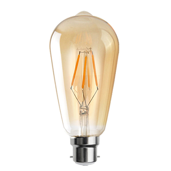 LED ST64 B22 4W Dimmable Globe Industrial Vintage Bulb - Vintagelite