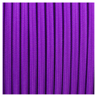 Vintage Purple Fabric 2 Core Round Italian Braided Cable 0.75mm - Vintagelite