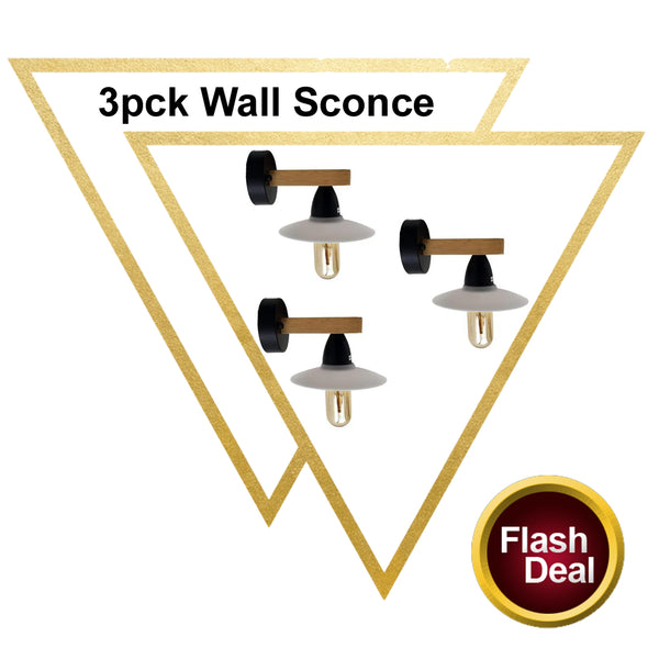 3 Pack Vintage Lamp Retro Wall Sconce Light White Lamp Fixtures - Vintagelite