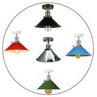Modern Industrial Vintage Style Ceiling Light Fittings Metal Flush Mount Shade