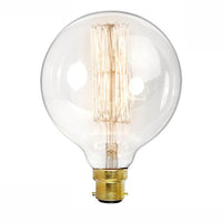 Dimmable G125 B22 60W Globe Industrial Vintage Filament Bulb - Vintagelite