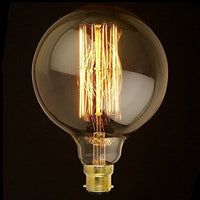 Dimmable G125 B22 40W Globe Industrial Vintage Filament Bulb - Vintagelite
