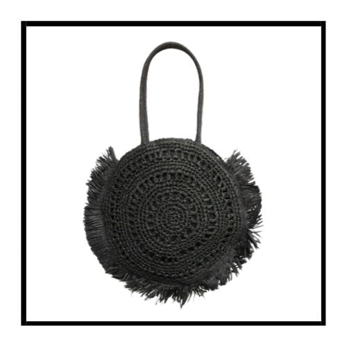 L'Straw bag Black