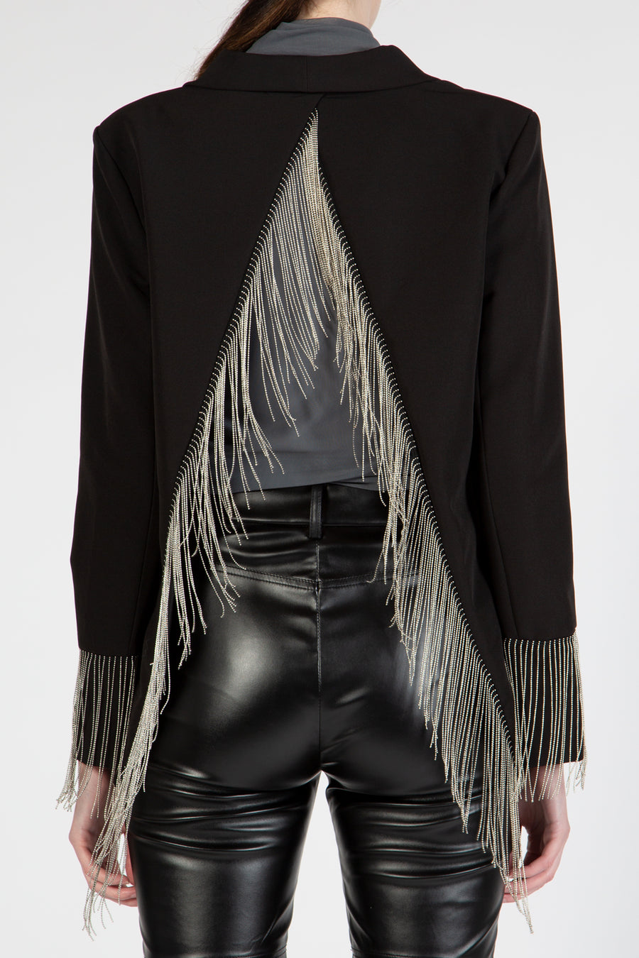 Fringe Single Breasted Jacket