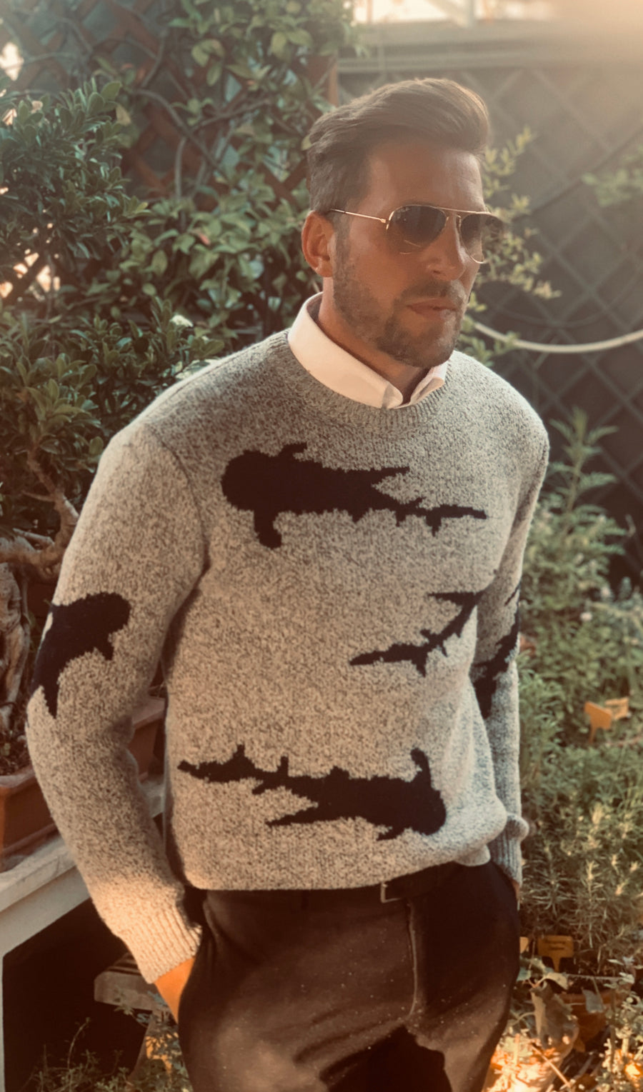 Mens Shark Sweater