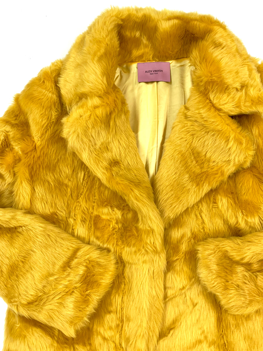 Faux Fur Gold Mustard Jacket