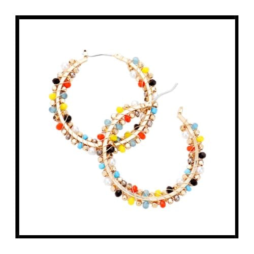 Cluster Color Bead Hoop
