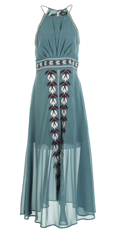 Embroidery Dress in Chiffon