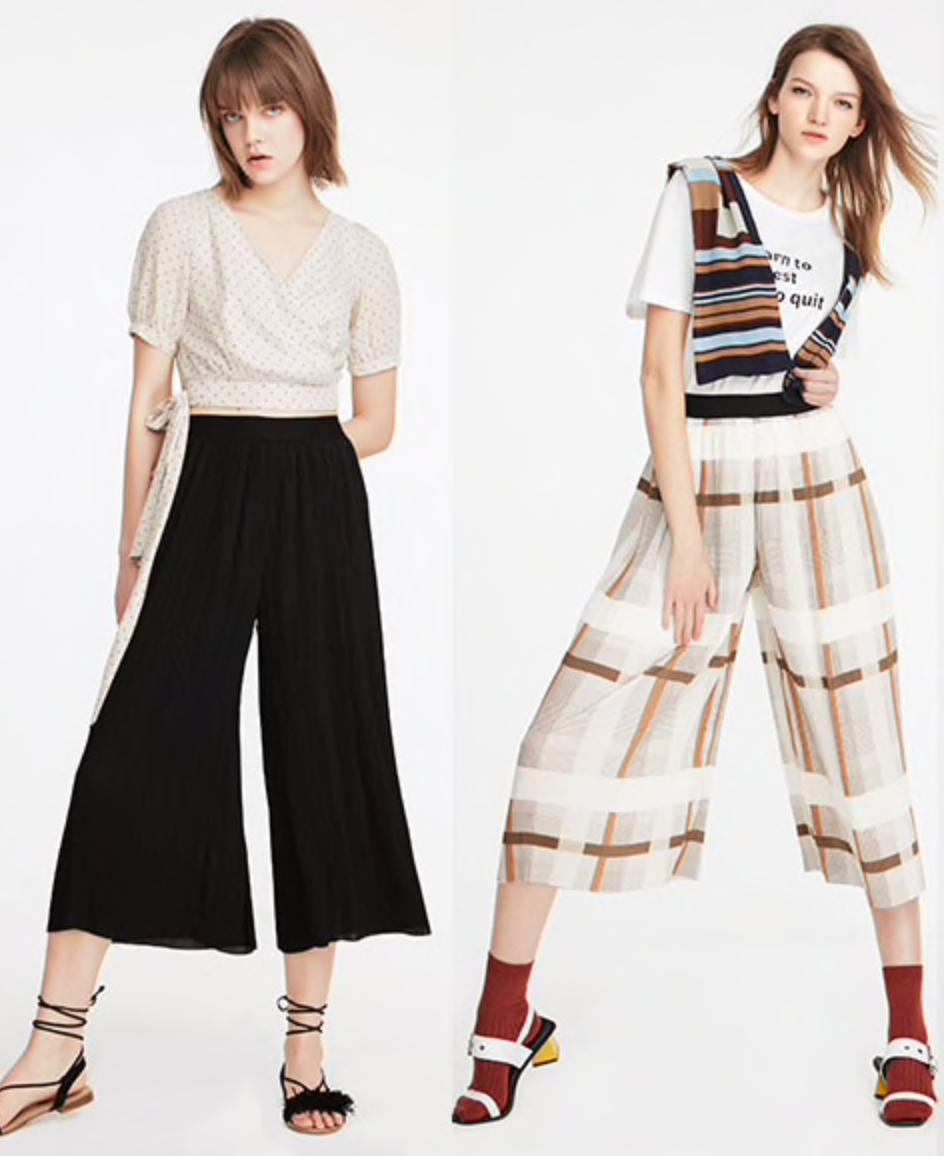 Loose Fit Chiffon Pants