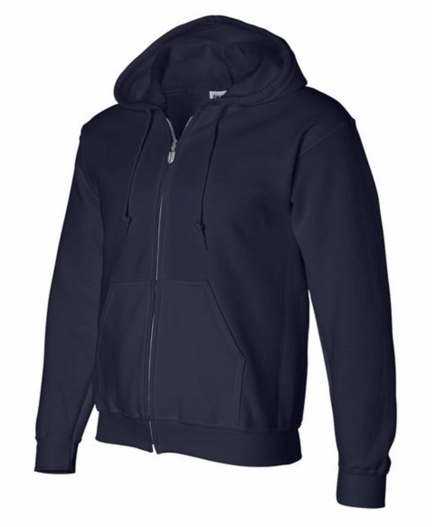 Basic Alex Vinash Hooded Full-Zip Sweatshirt Navy Blue