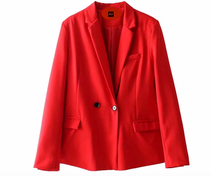 Spring Red Cocktail Jacket