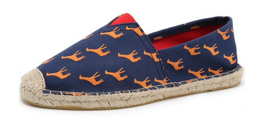 Giraffe Espadrilles Loafers Fashion  Canvas Spring Summer Shoes