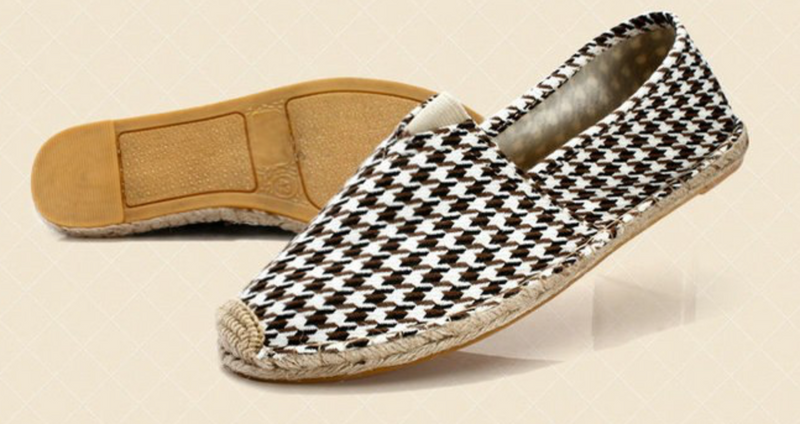 Brown Houndstooth Espadrilles Loafers Fashion