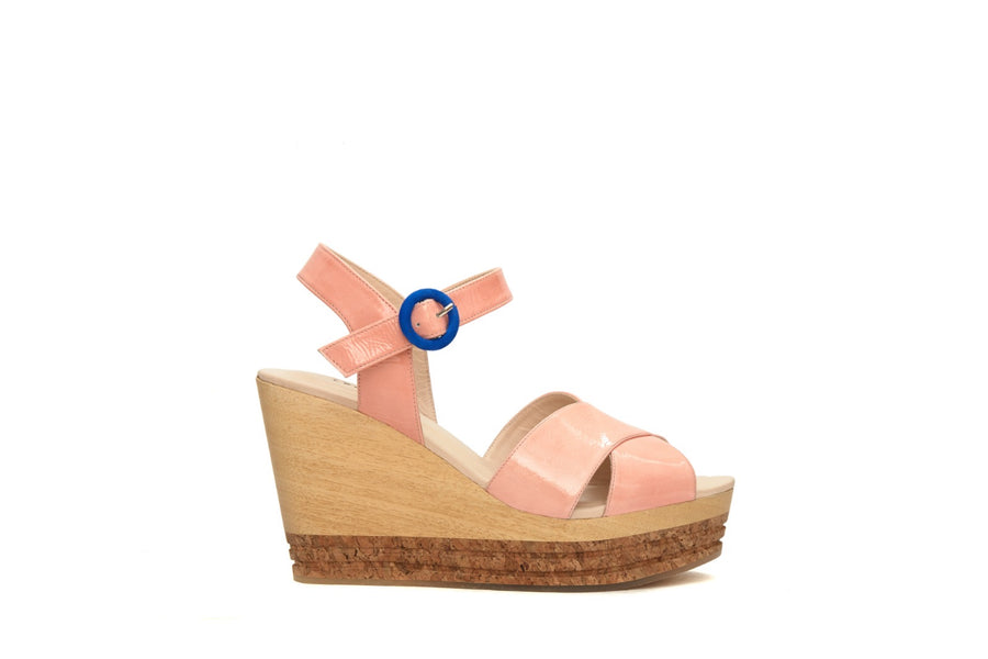 Soft Leather Fabric Wedge