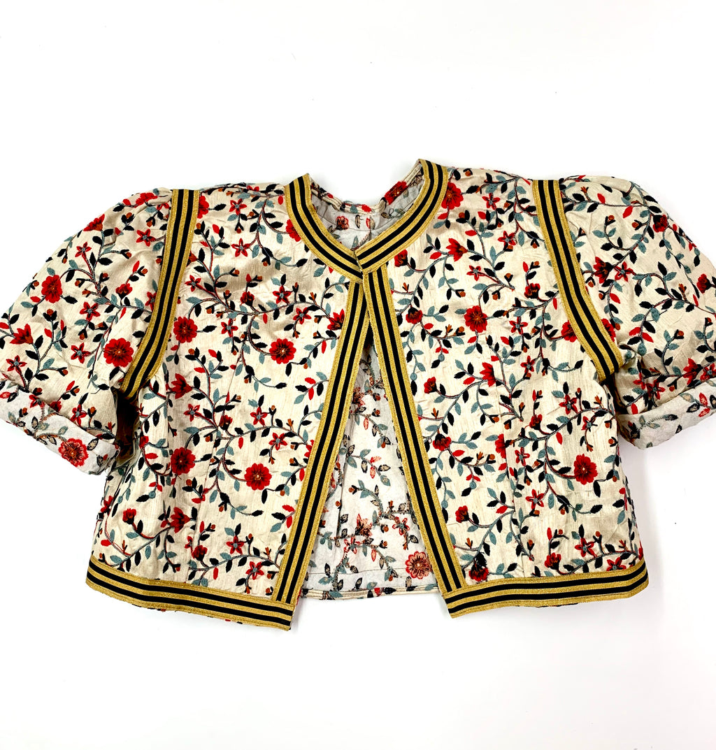 Cropped Jacket Bolero Embroidery Morocco