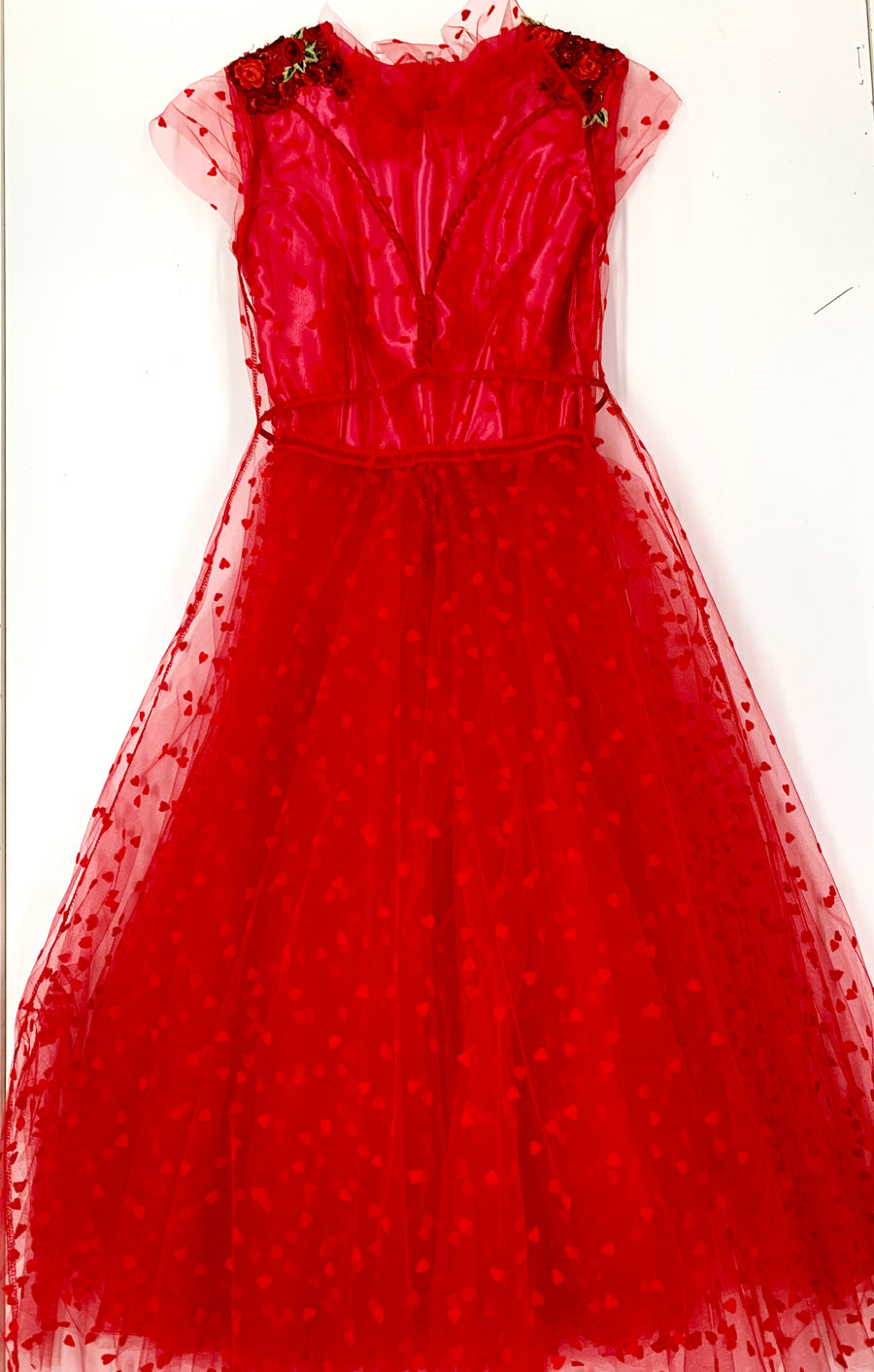 Red Heart Tull Cocktail Dress