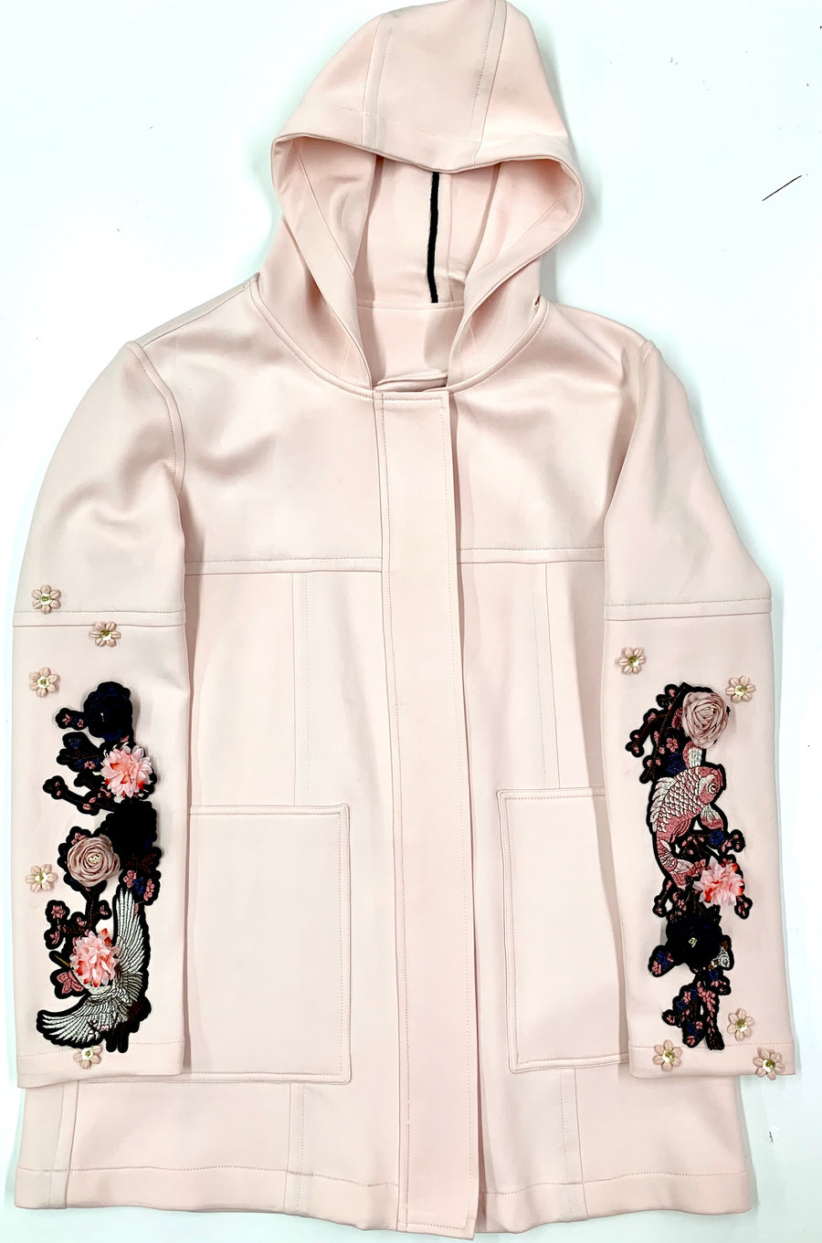Blush Embroidery Neopreno Jacket