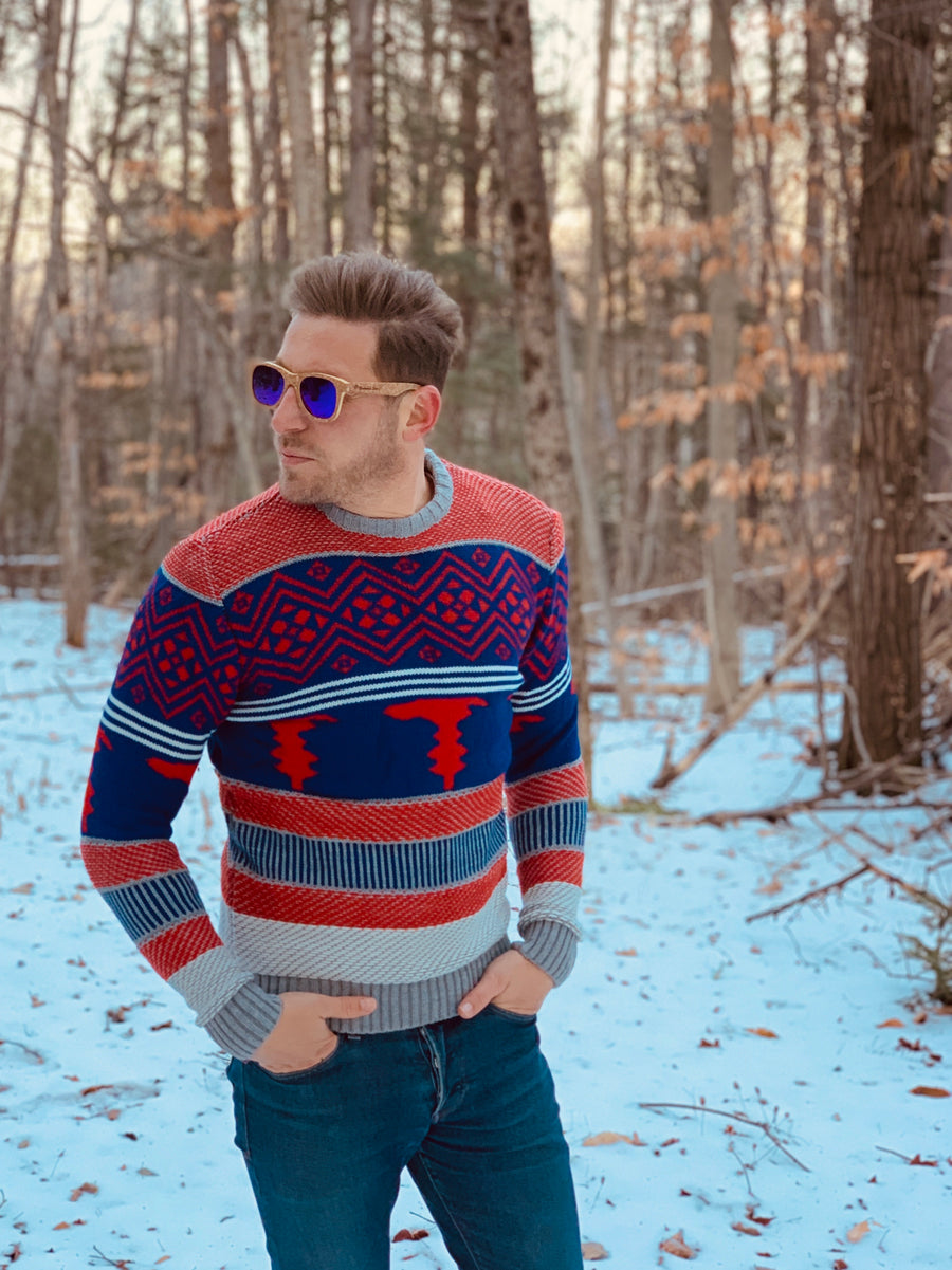 Multicolor Mens Sweater