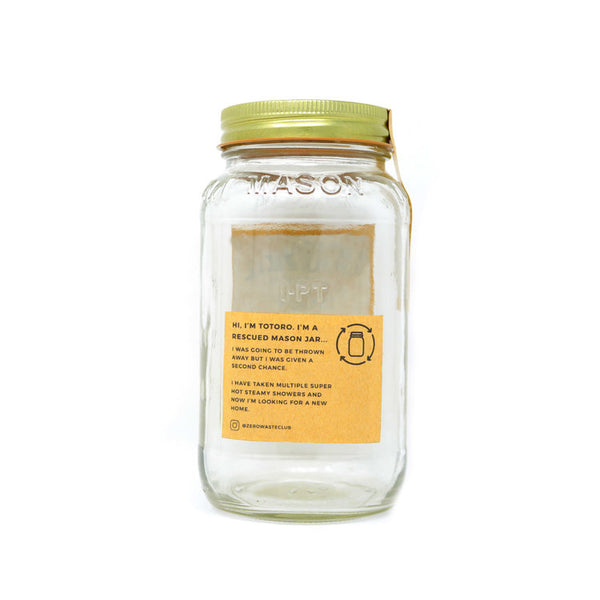 Rescued Mason Jar - 750ml Jar with Metal Lid - Smug Store