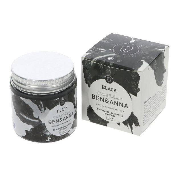 Ben & Anna Charcoal Toothpaste - 100ml Jar - Smug Store