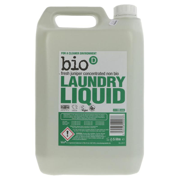 Bio D Concentrated Non-Bio Laundry Liquid - Juniper and Seaweed 5l - Smug Store